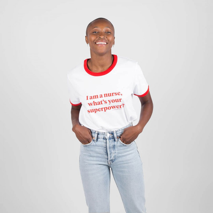 Camiseta · I am a nurse, what's your superpower?