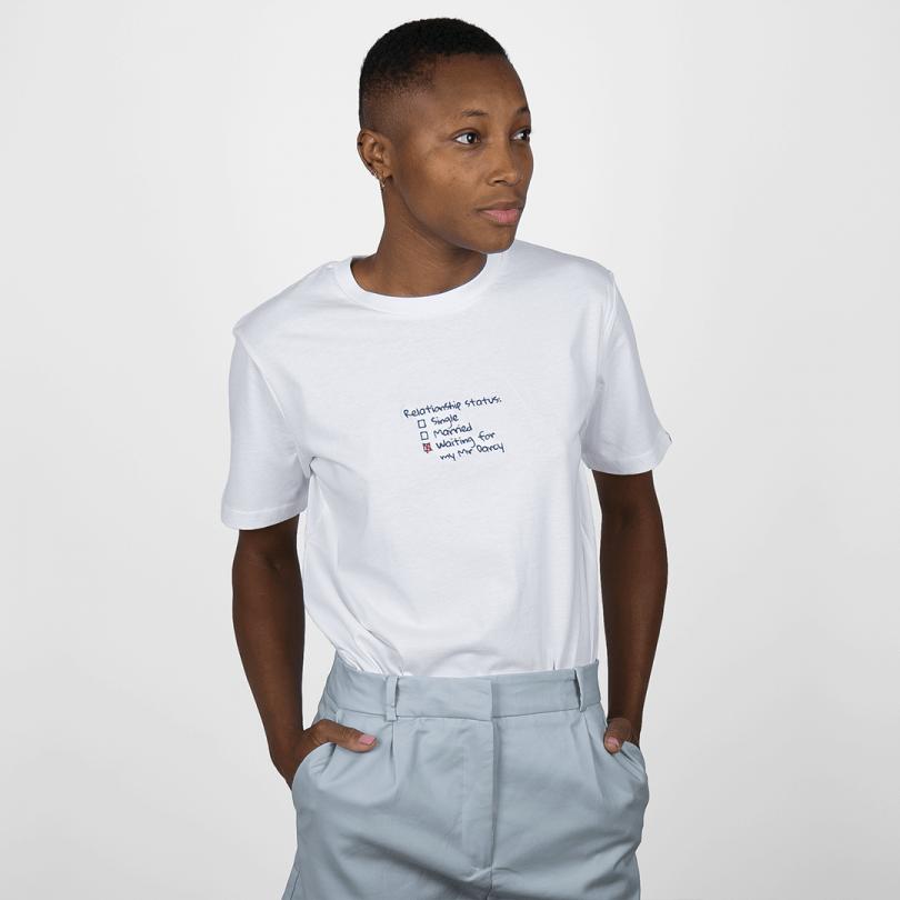 Camiseta · Waiting for my Mr Darcy